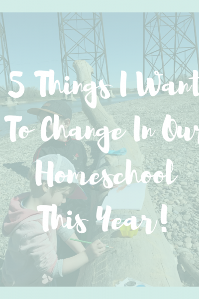 Change Our Homeschool