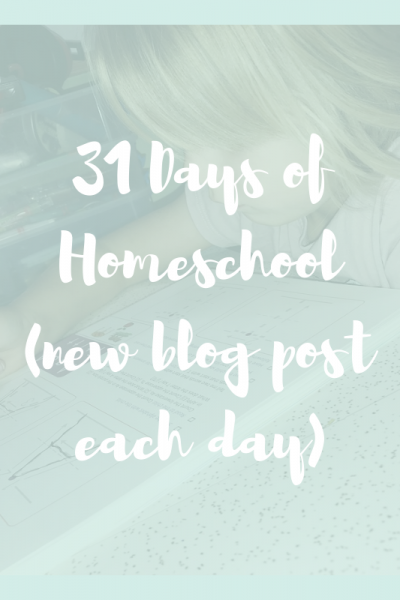 31 days of homeschool